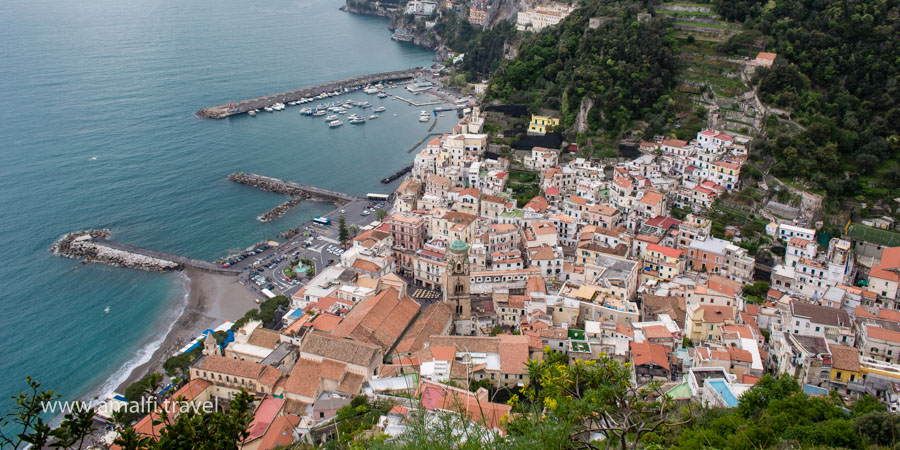 View of Amalfi from tower Ziro, Italy