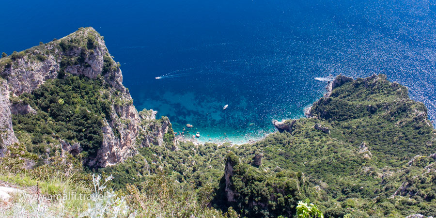 View from Mount Solaro, the Island of Capri, Italy