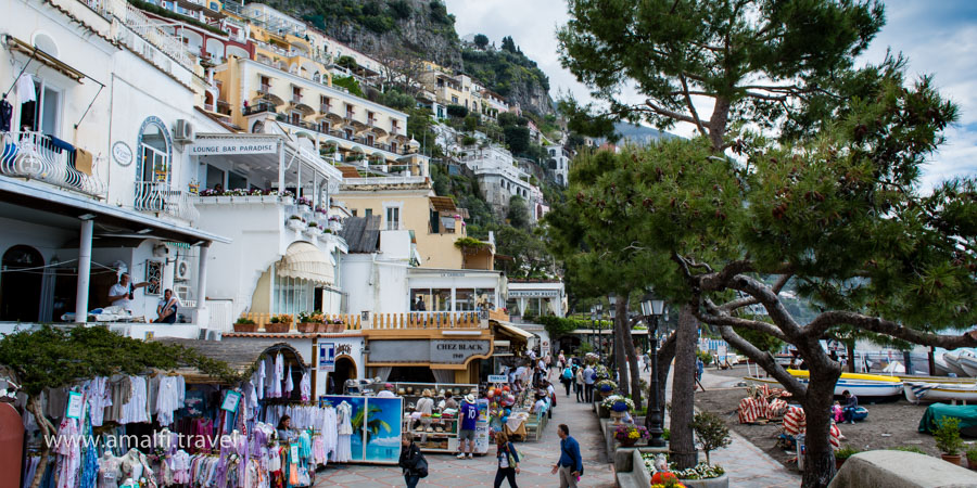 The centre of Positano, Italy