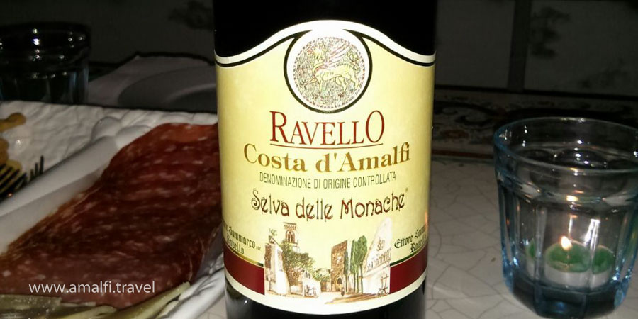 Wine from Ravello, Italy