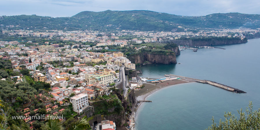 View of Sorrento from the road, Italy