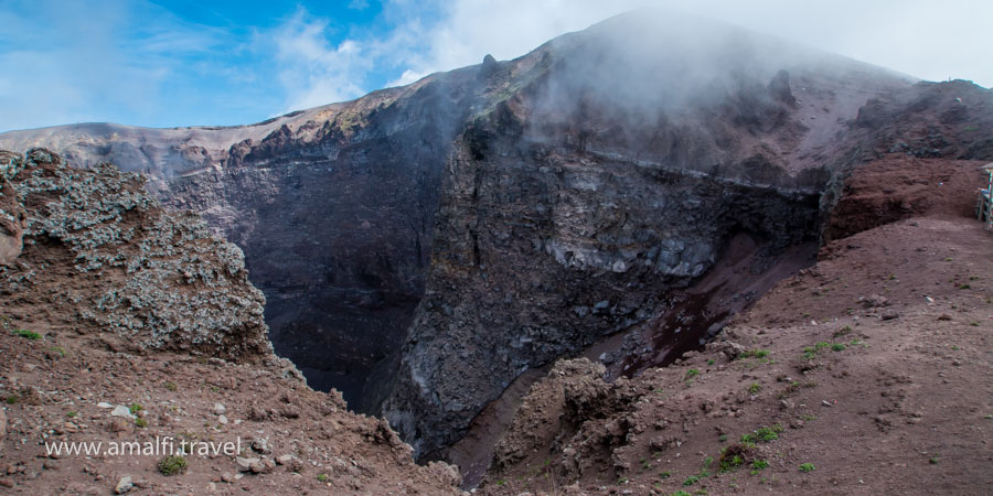 The crater of Vesuvius, Italy